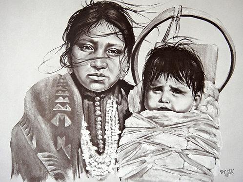 """""""My Little Boy"""" by Penni Anne Cross, LE Print"""