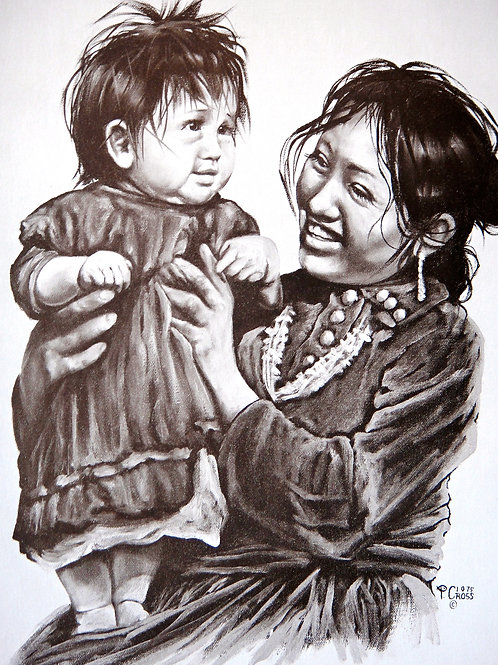 """My Little Girl"" by Penni Anne Cross, LE Print"