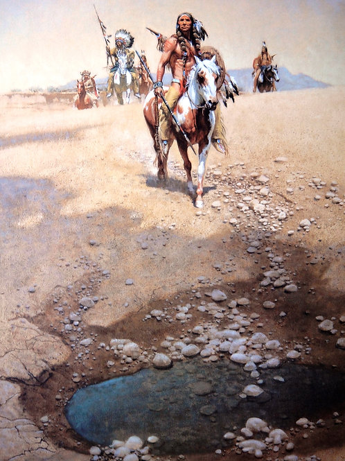 """Comanche War Trail"" by Frank McCarthy LE Print"