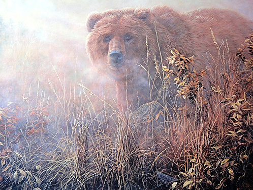 """""""Out of the Mist Grizzly"""" by John Seery-Lester, LE Print"""