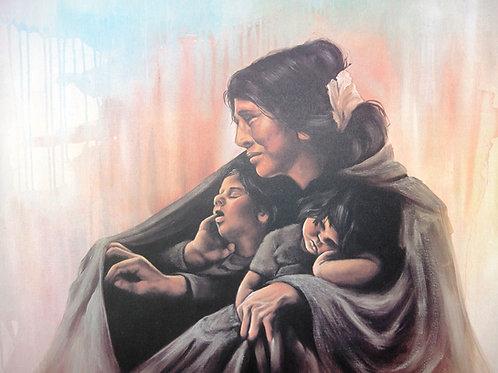 """Navajo Madonna"" by Penni Anne Cross, LE Print"