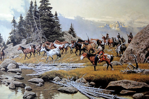 """""""Where Tracks Will Be Lost"""" by Frank McCarthy LE Print"""