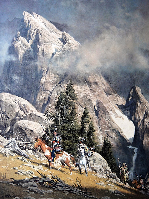 """""""Crossing the Divide"""" by Frank McCarthy LE Print"""