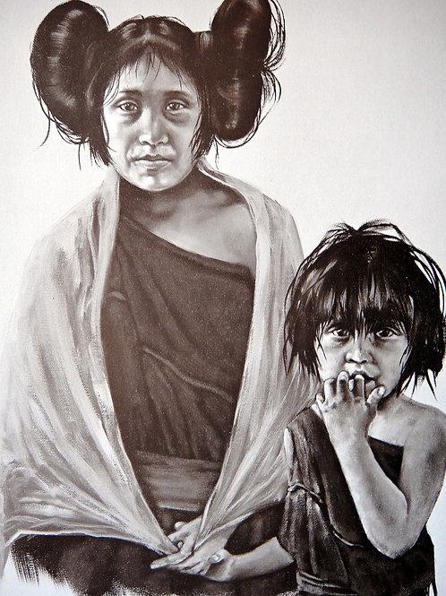 """Hopi Sisters"" by Penni Anne Cross, LE Print"