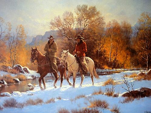 """Fresh Snow, First Light"" by G. Harvey, LE Print"