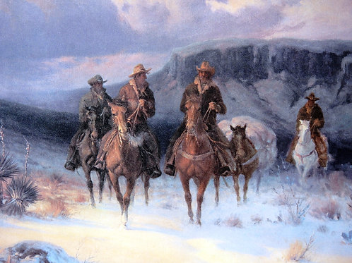 """""""Carefree Cowboys"""" by G. Harvey, Open Edition Print"""