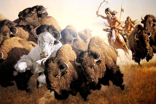 """""""In Pursuit of the White Buffalo"""" by Frank McCarthy LE Print"""