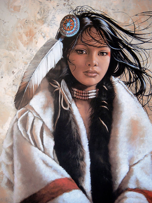 """""""Dii-Fah-Shtehee-Wihza-Ahook/A Coat of Much Value"""" by Penni Anne Cross LE Print"""