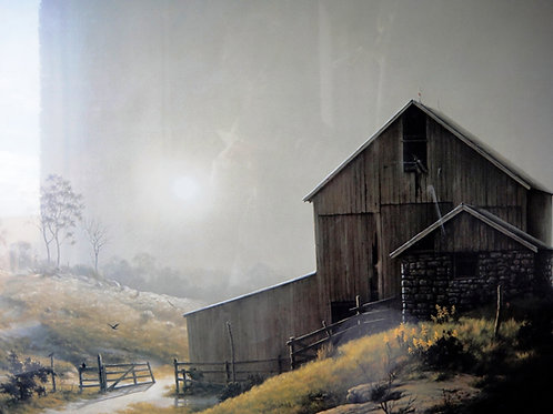 """""""A Misty Country Morn"""" by Dalhart Windberg, Art Print"""