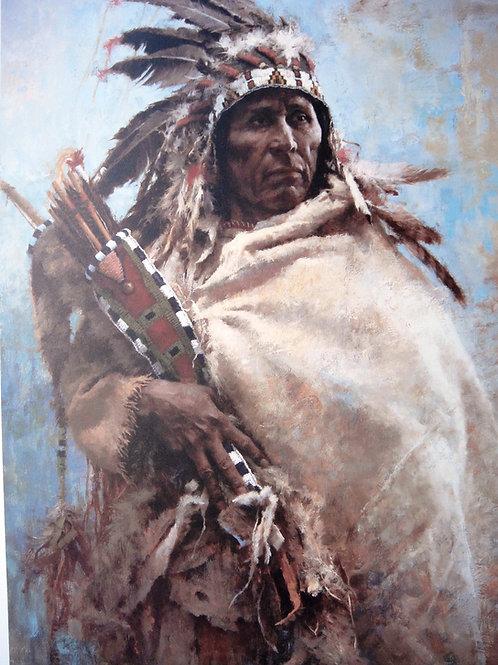 """""""Leader of Men"""" by Howard Terpning, LE Print"""
