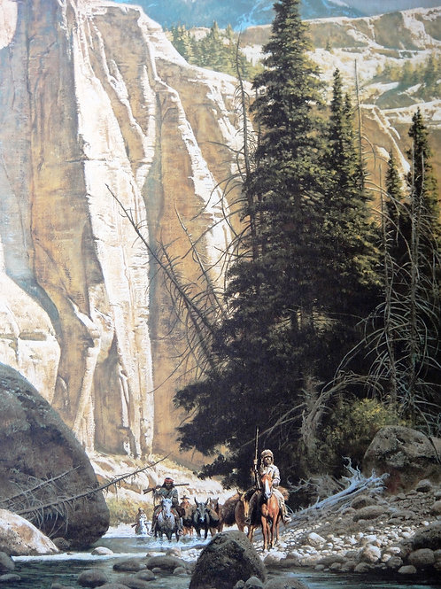 """""""Along the West Fork"""" by Frank McCarthy, LE Print"""