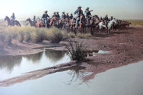 """""""Before the Charge"""" by Frank McCarthy LE Print"""