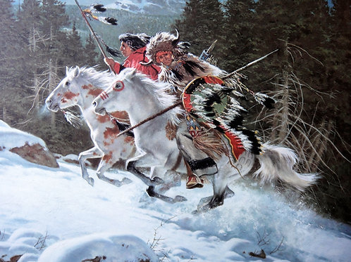 """""""In the Land of the Winter Hawk"""" by Frank McCarthy, LE Print"""
