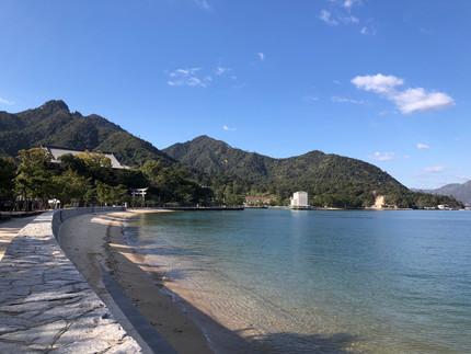 宮島の穏やかなフィールド