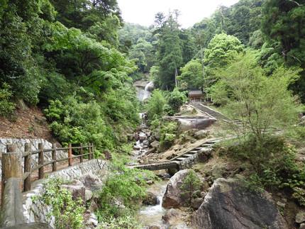 白糸の滝へ。2020.05.16/宮島観光