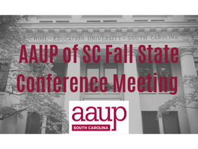 2019 State AAUP Fall Conference Meeting to be held on Saturday, September 21