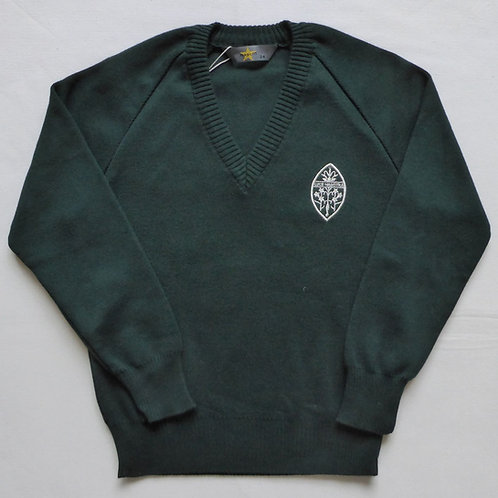 Truro High School Green V-Neck Jumper