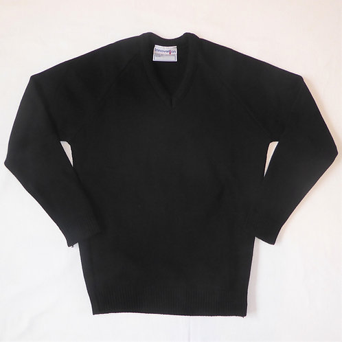 Falmouth School Black V-Neck Jumper