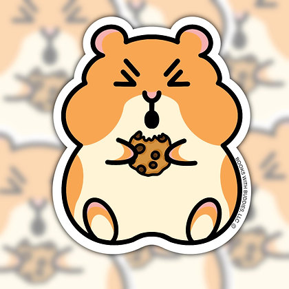 Hamster Cookie Sticker