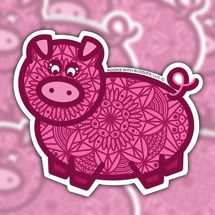 Piggy Mandala Sticker