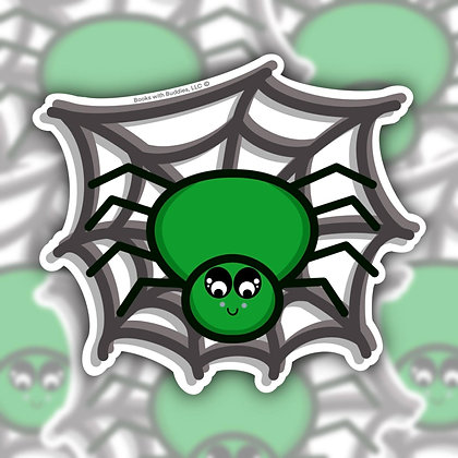 Spider in Web Sticker