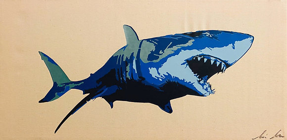 Great White Shark Canvas