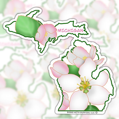 Michigan State Flower Sticker