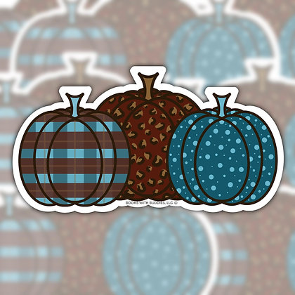 Pattern Pumpkins Sticker