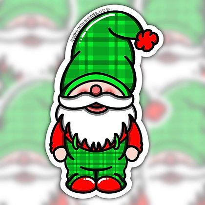 Boy Christmas Gnome Sticker