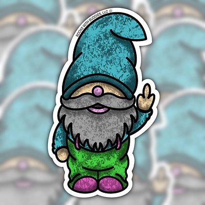 Unpleasant Gnome Sticker