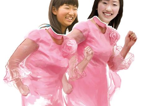 阿佐ヶ谷姉妹さん公認の顔ハメアートが展示決定いたしました!