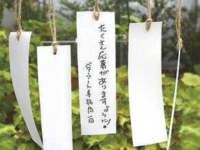 """仮想美術館 """"SUGINAMI WEB MUSEUM""""の七夕かざりにあなたの願いを展示します。"""