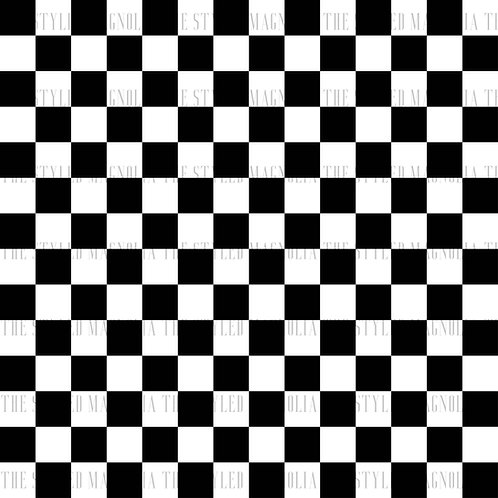 PICK-A-PRINT: CHECKERBOARD (1/4IN & 1IN SQUARES)