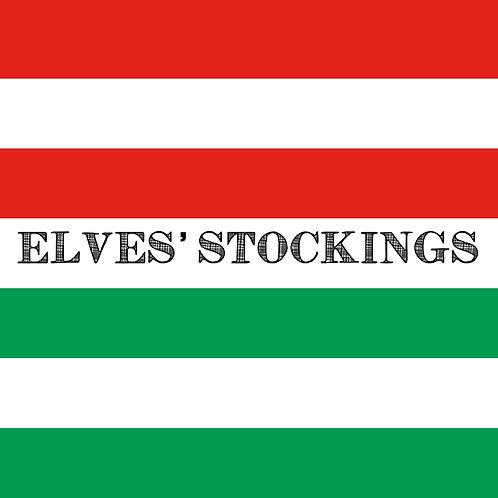 ELVES' STOCKINGS - STATEMENT STRIPES (1.5 YARD PANEL)