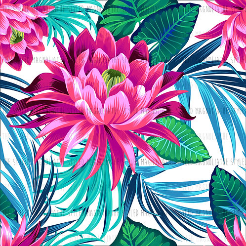 PICK-A-PRINT: PINK TROPICAL FLORAL