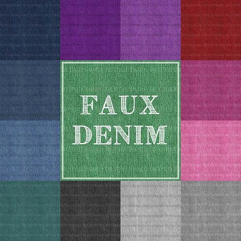 FAUX DENIM I