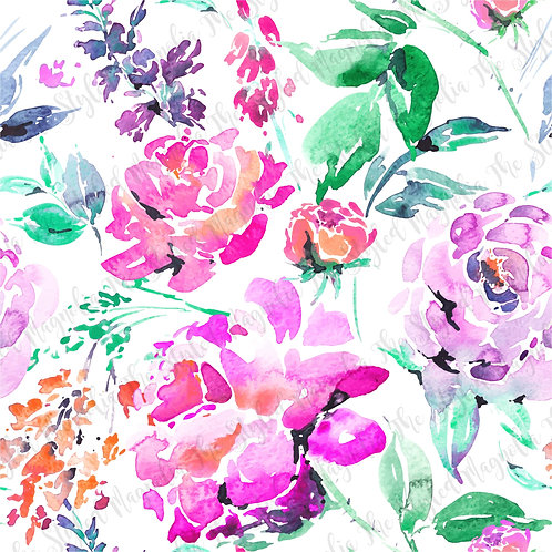 PICK-A-PRINT: PINK & PURPLE WATERCOLOR FLORAL