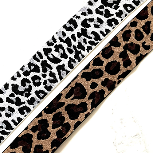 LEOPARD 2IN POLYESTER ELASTIC