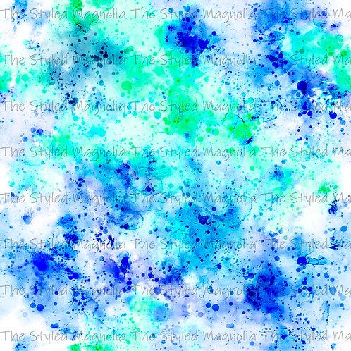PICK-A-PRINT: LIME & BLUE SPLATTER