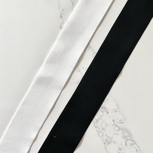 2IN POLYESTER ELASTIC (WHITE & BLACK)