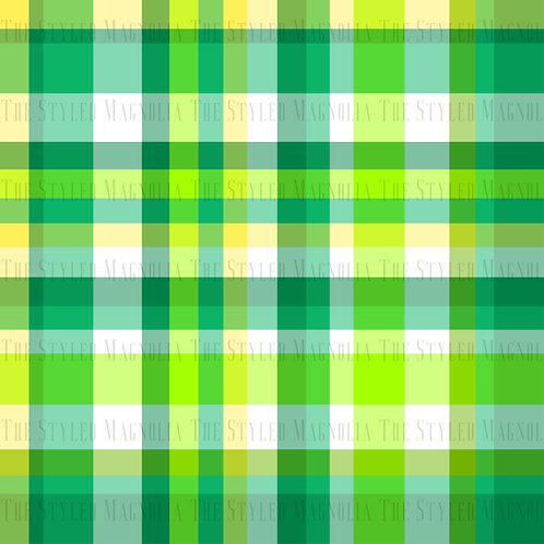 PICK-A-PRINT: FRESH LIME PLAID