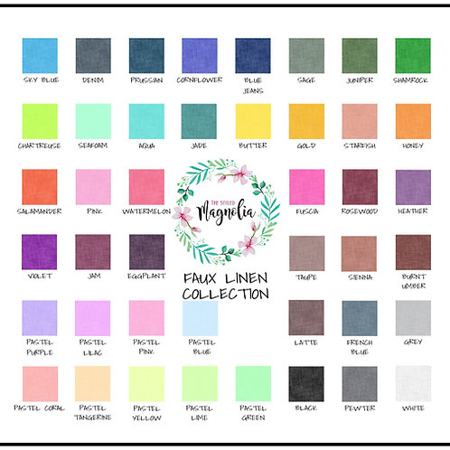 DIGITALLY PRINTED LINEN COLLECTION SWATCH CARD
