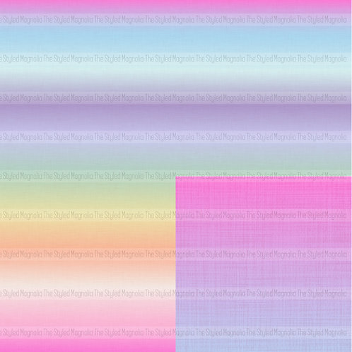 REMNANT: 47IN COTTON LYCRA (180 GSM) - FAUX LINEN UNICORN OMBRE