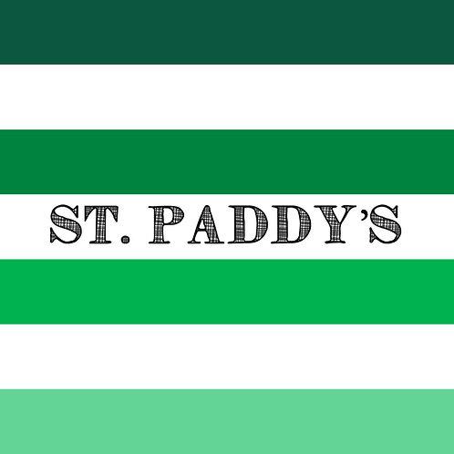 PICK-A-PRINT: STATEMENT STRIPES - ST. PADDY'S (1.5 YARD PANEL)
