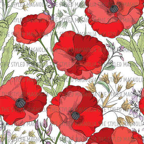 PICK-A-PRINT: GIANT RED POPPIES