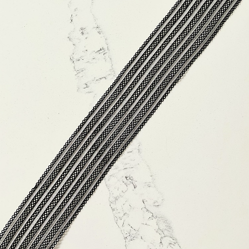 2IN STRIPED MESH POLYESTER ELASTIC