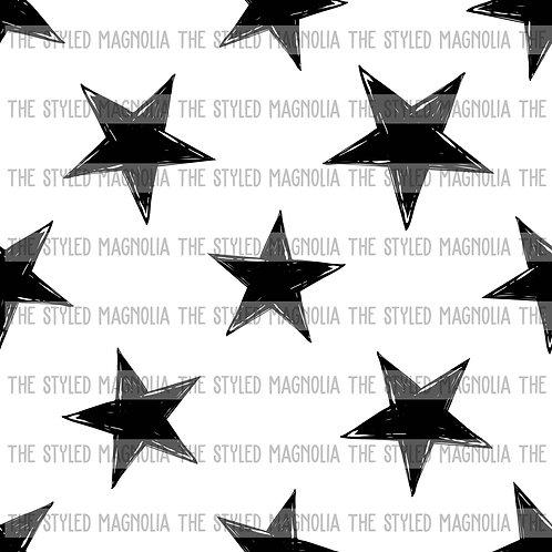 PICK-A-PRINT: MONOCHROME EDGY STARS