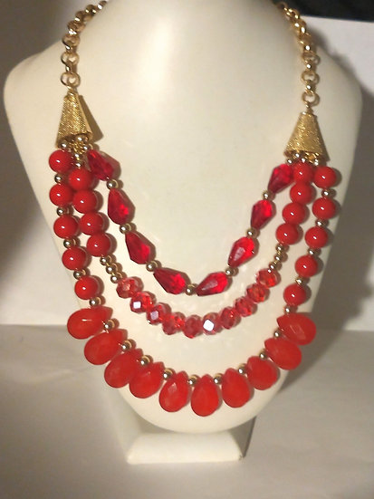 Bead Necklace and Earring Set