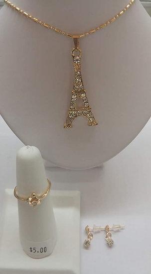 Eiffel Tower Necklace Set