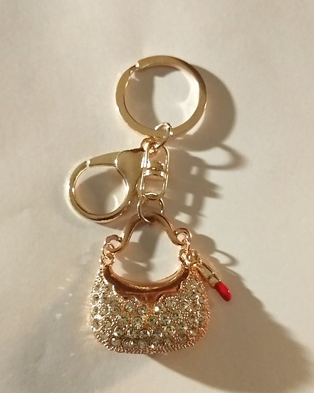 Gold Purse Keychain